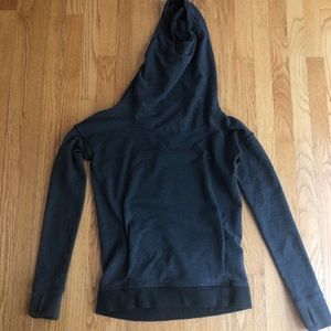 Lululemon Grey Pullover Scrunch Neck Hoodie 4women